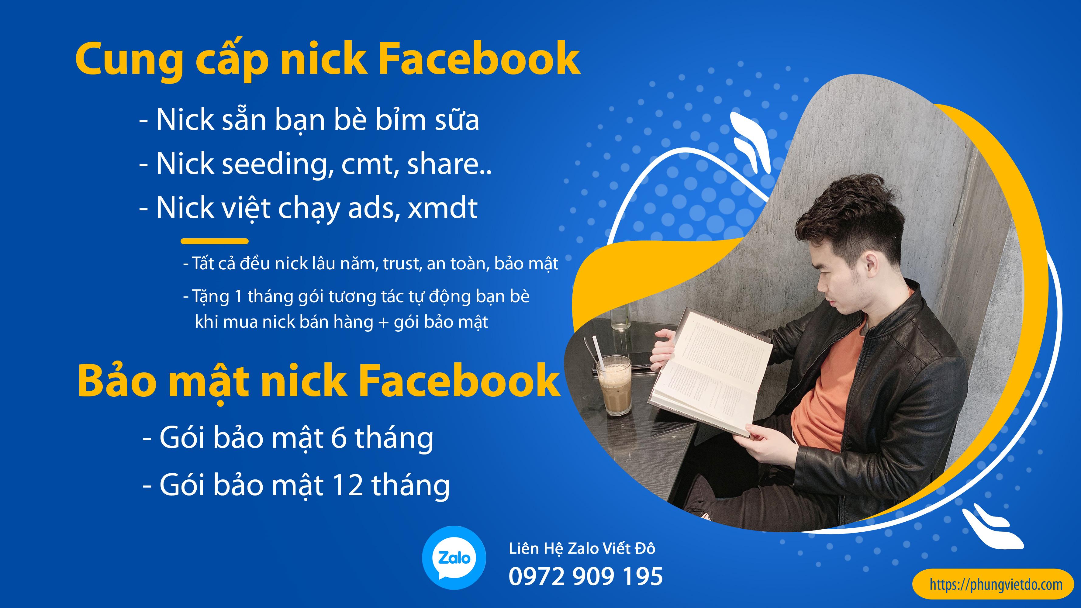 Mua Bán Nick Facebook – Cung Cấp Tài Khoản Facebook Bán Hàng